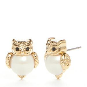 NWOT In The Woods Owl Earrings by Kate Spade